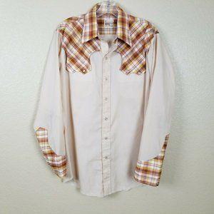 Vintage 70's Montgomery Ward Western Wear Plaid